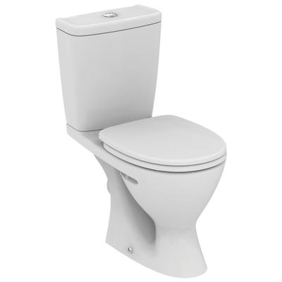 Plus WC Combination, horizontal outlet Euro White