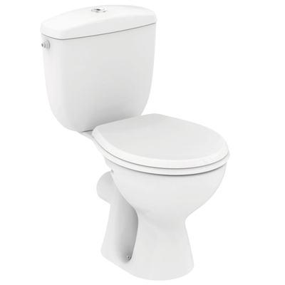 WC комплект, SLIM, хоризонтално оттичане Бял