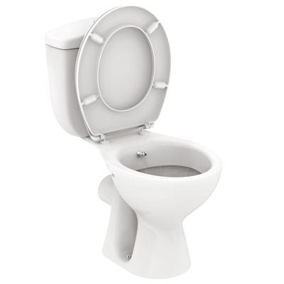 WC + биде, комплект, SLIM, хоризонтално оттичане Бял