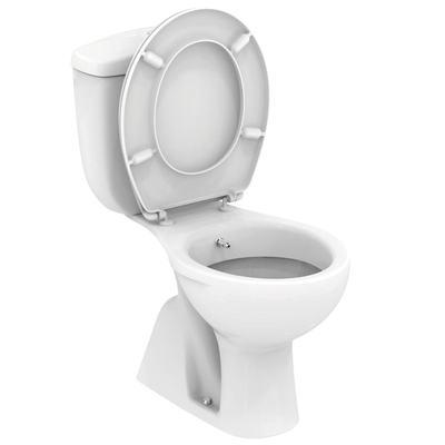 WC + биде, комплект, SLIM, вертикално оттичане Бял