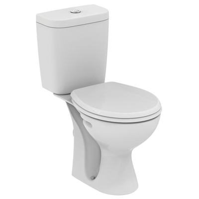 WC Combination, horizontal outlet Euro White