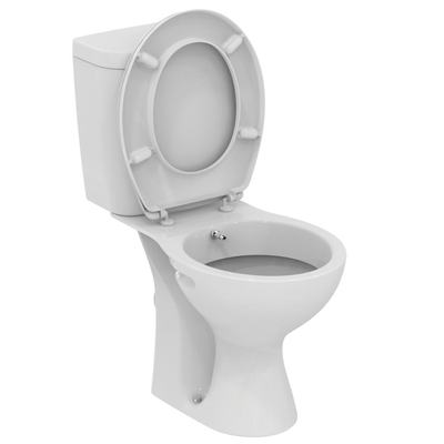WC + биде, комплект, хоризонтално оттичане Бял
