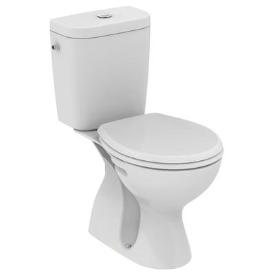 WC Combination, vertical outlet Euro White