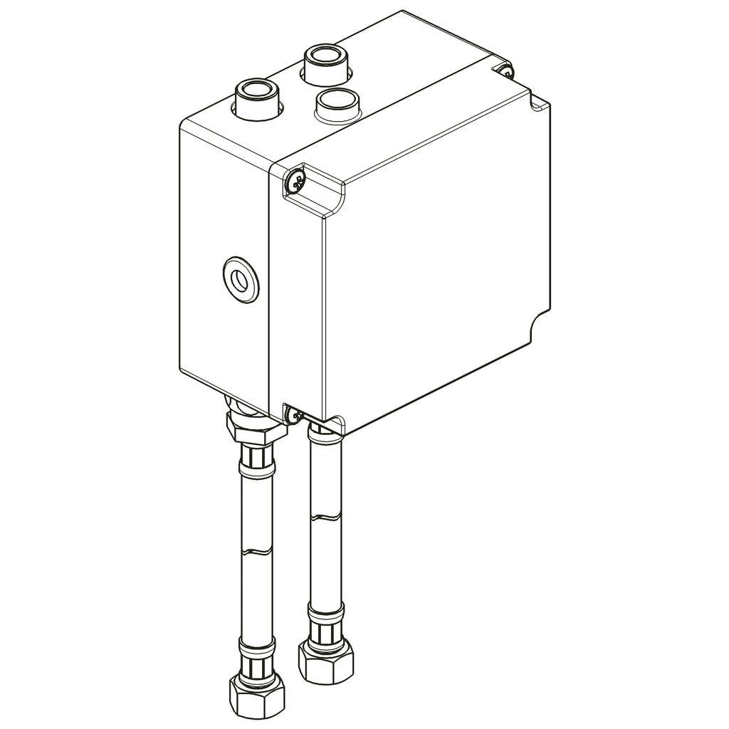 PROXIMITY CERAPLUS Электронный встраиваемый комплект для инфра-красного подключения для умывальника/душа, на батарейках, два клапана