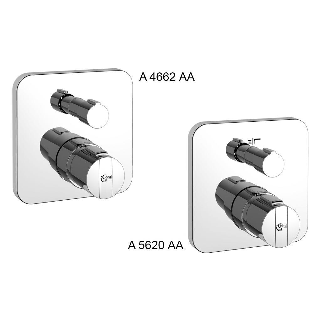CERATHERM 200 NEW встраиваемый индивидуальный термостатический смеситель для ванны/душа, комплект №2 (внешняя часть), для монтажа с EASY-BOX A1000NU