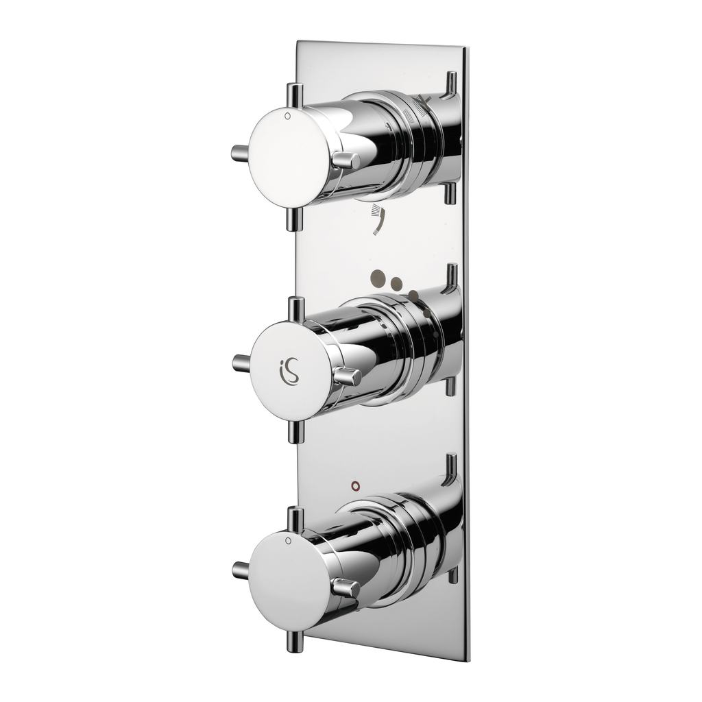 Thermostatic Built-in 3 Outlet Bath Shower Mixer