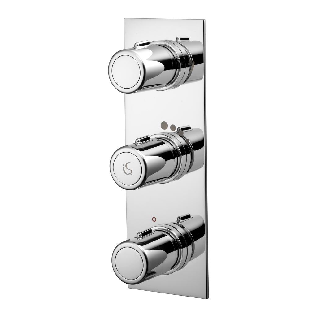 Thermostatic Built-in 2 Outlet Bath Shower Mixer