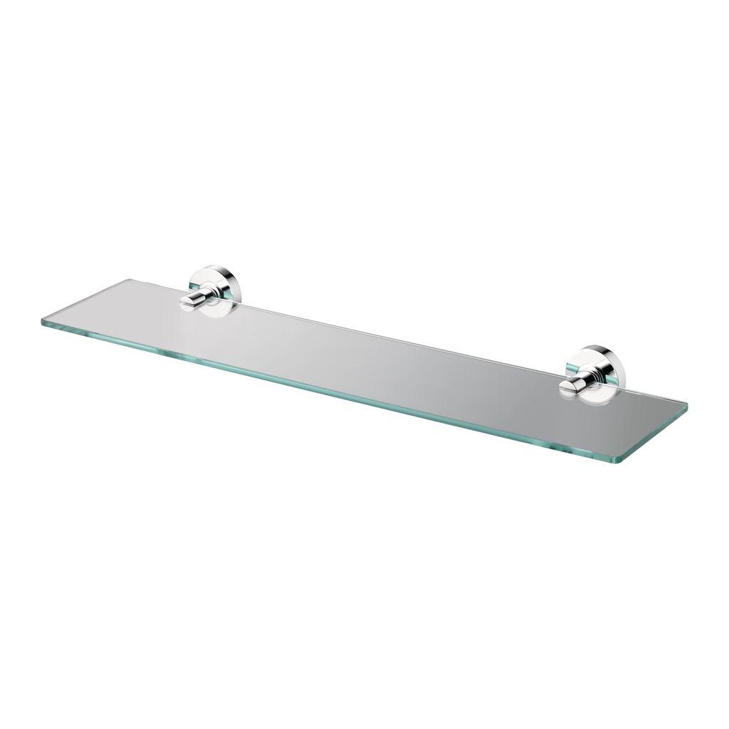 600mm Clear Glass Shelf