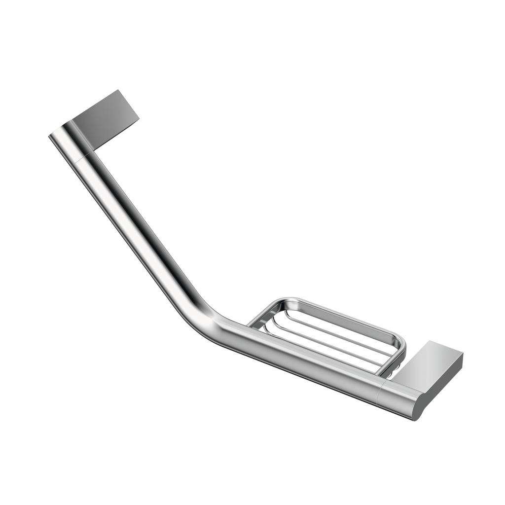 Grab rail with soap basket 45 cm