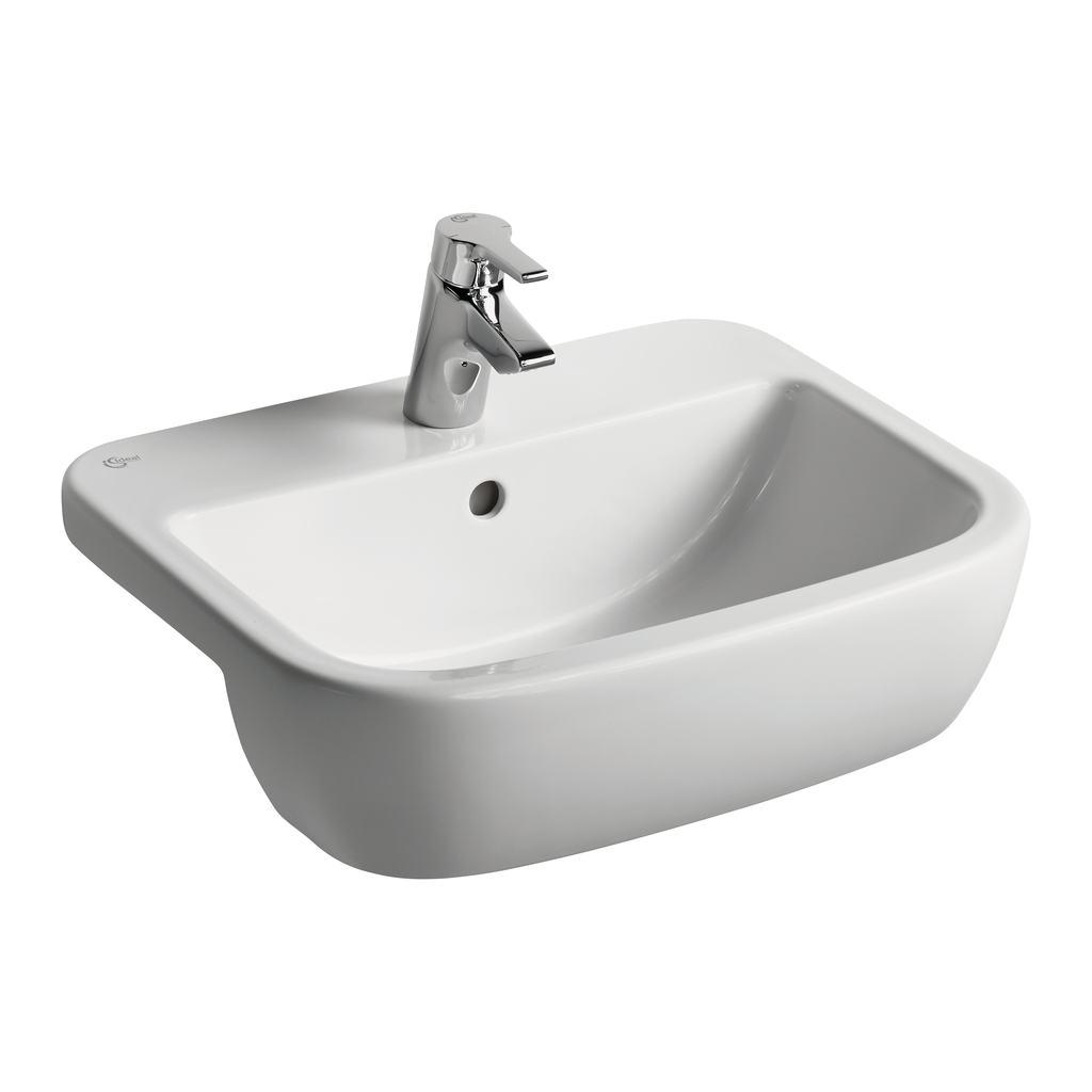 55cm Semi-Countertop Basin, 1 taphole