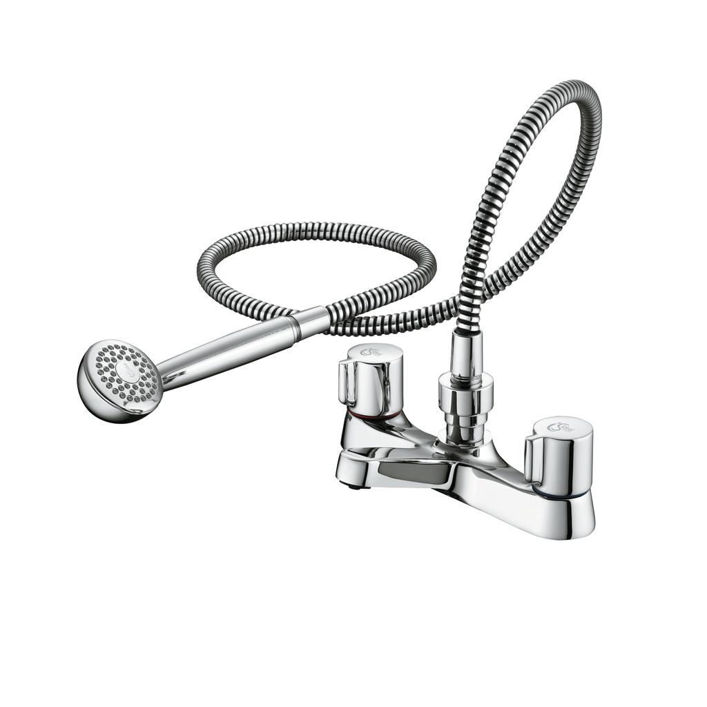 Dual Control Bath Shower Mixer with Set