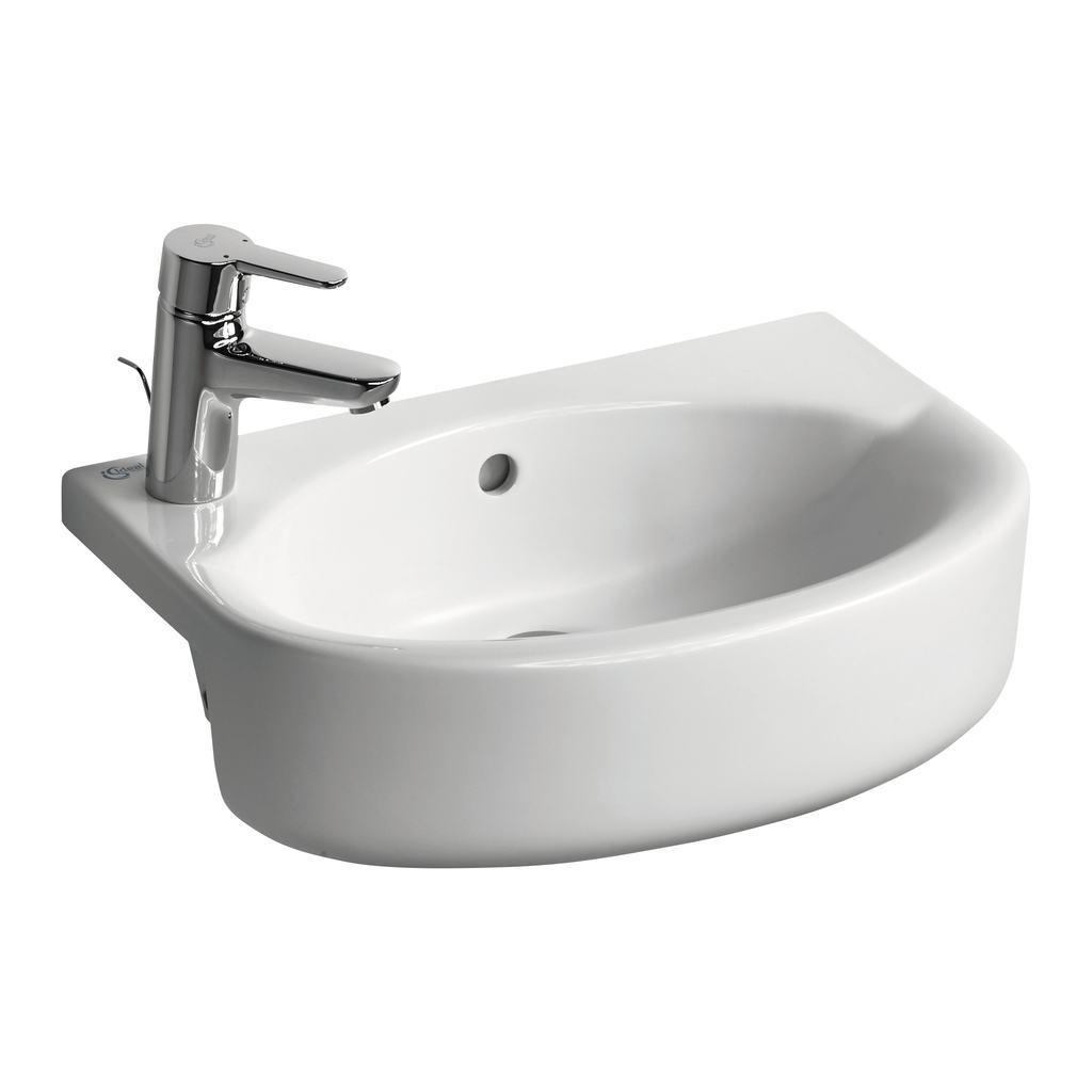 Arc 50cm Semi-Countertop Basin, Left hand