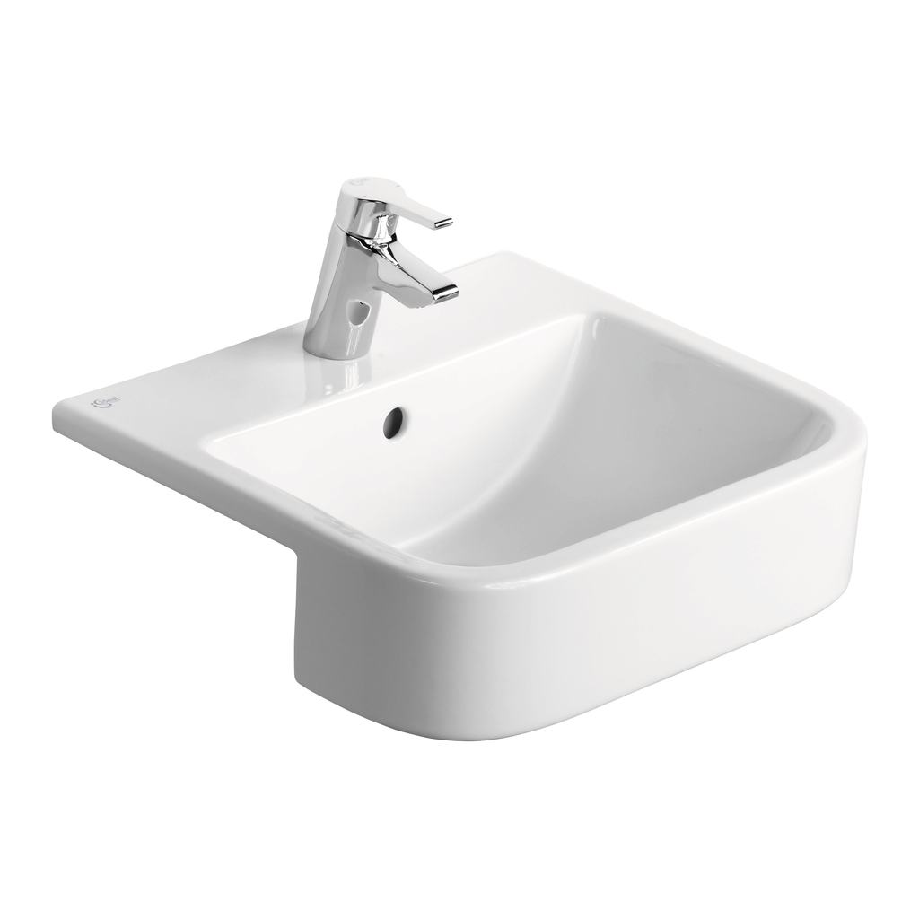50cm Semi-Countertop Washbasin, 1 tapholes