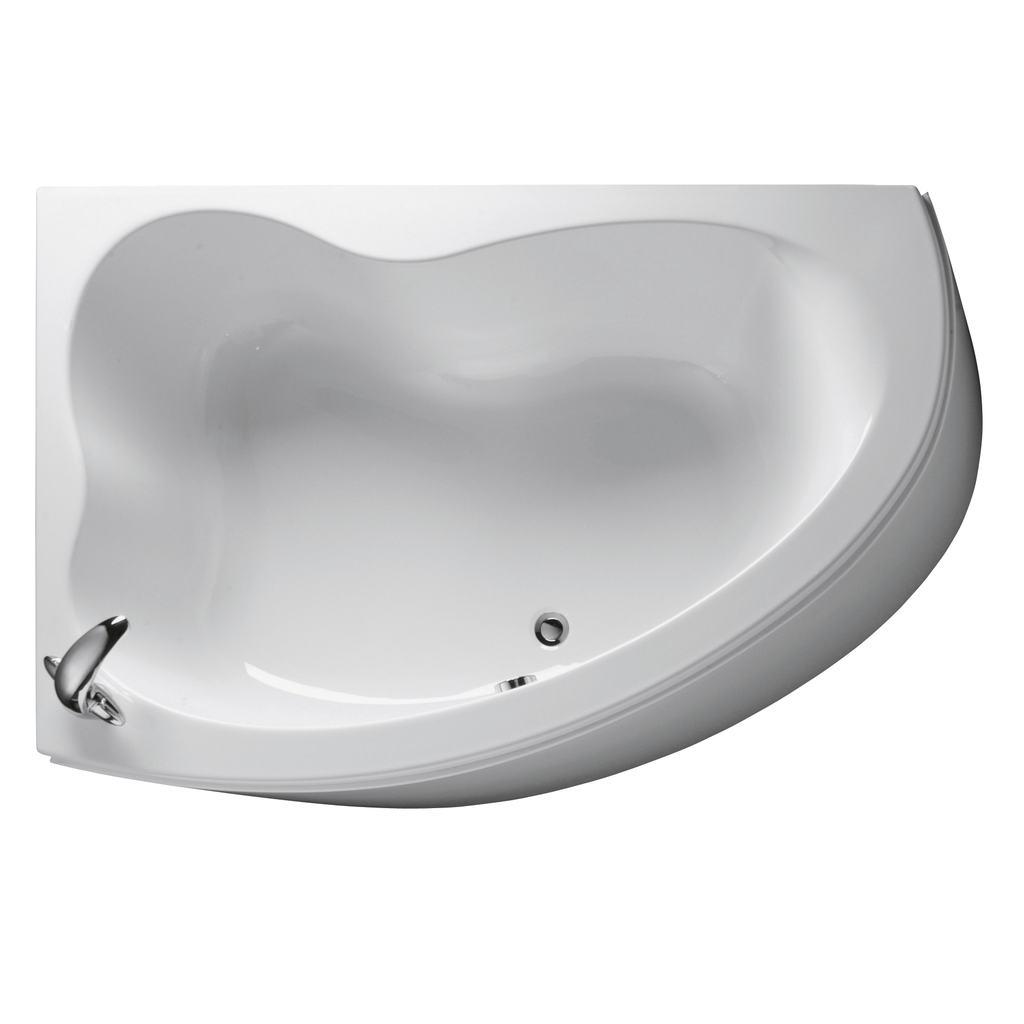 160x105cm Corner Bath, Left  Hand