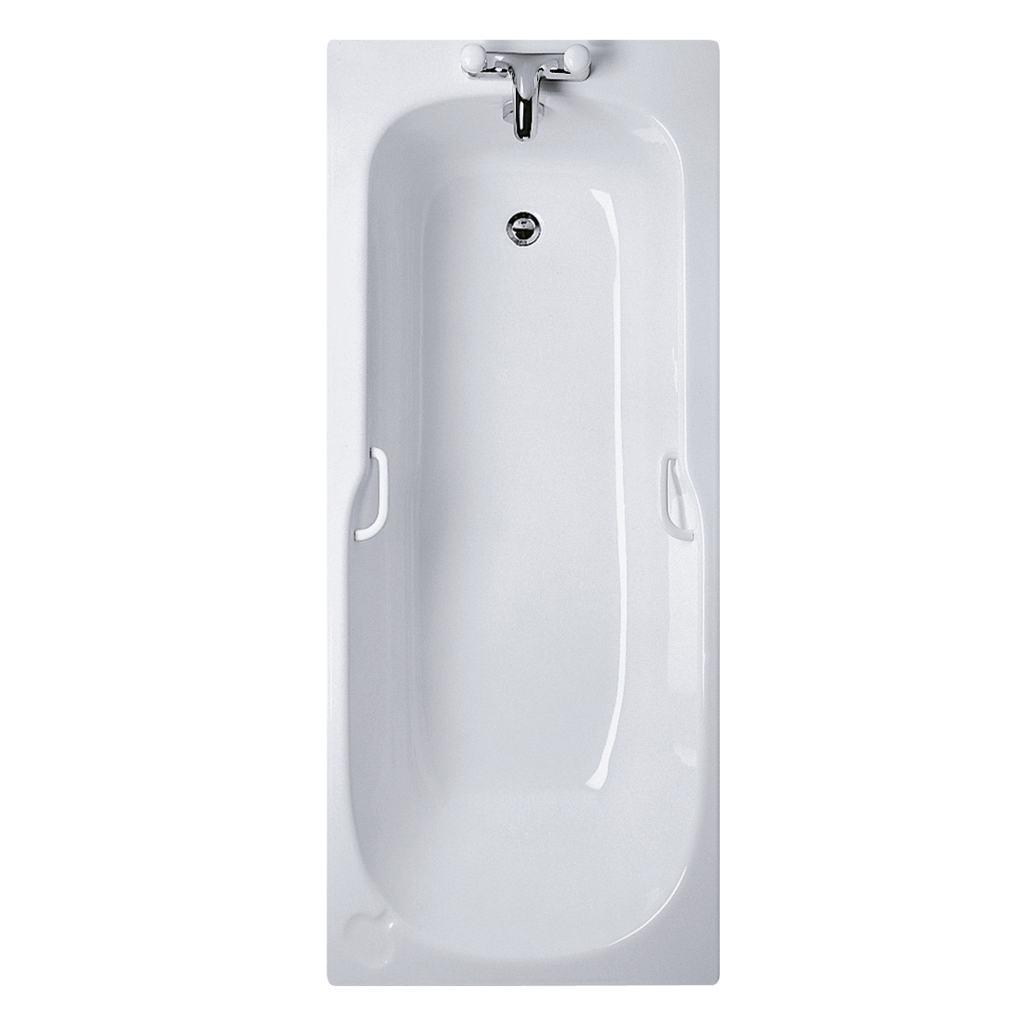 170x70cm Rectangular Bath, 2 tapholes