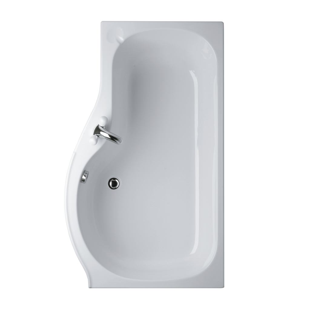 Left Hand Shower Bath.April P Shape Sliding Bath Screen Right Hand ...