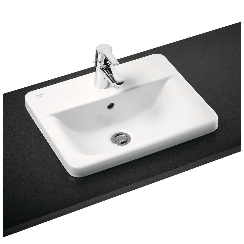 50cm Countertop Washbasin, 2 taphole