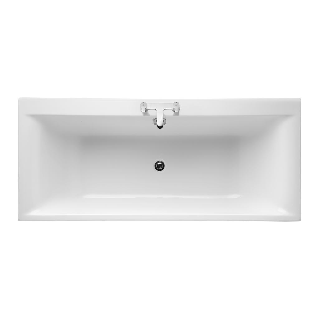 170x75cm Double Ended Bath, 2 tapholes