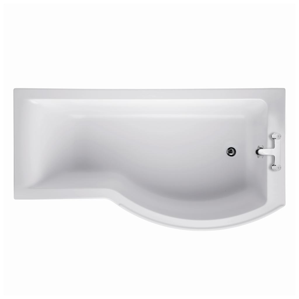 170x70cm Shower Bath, Right Hand
