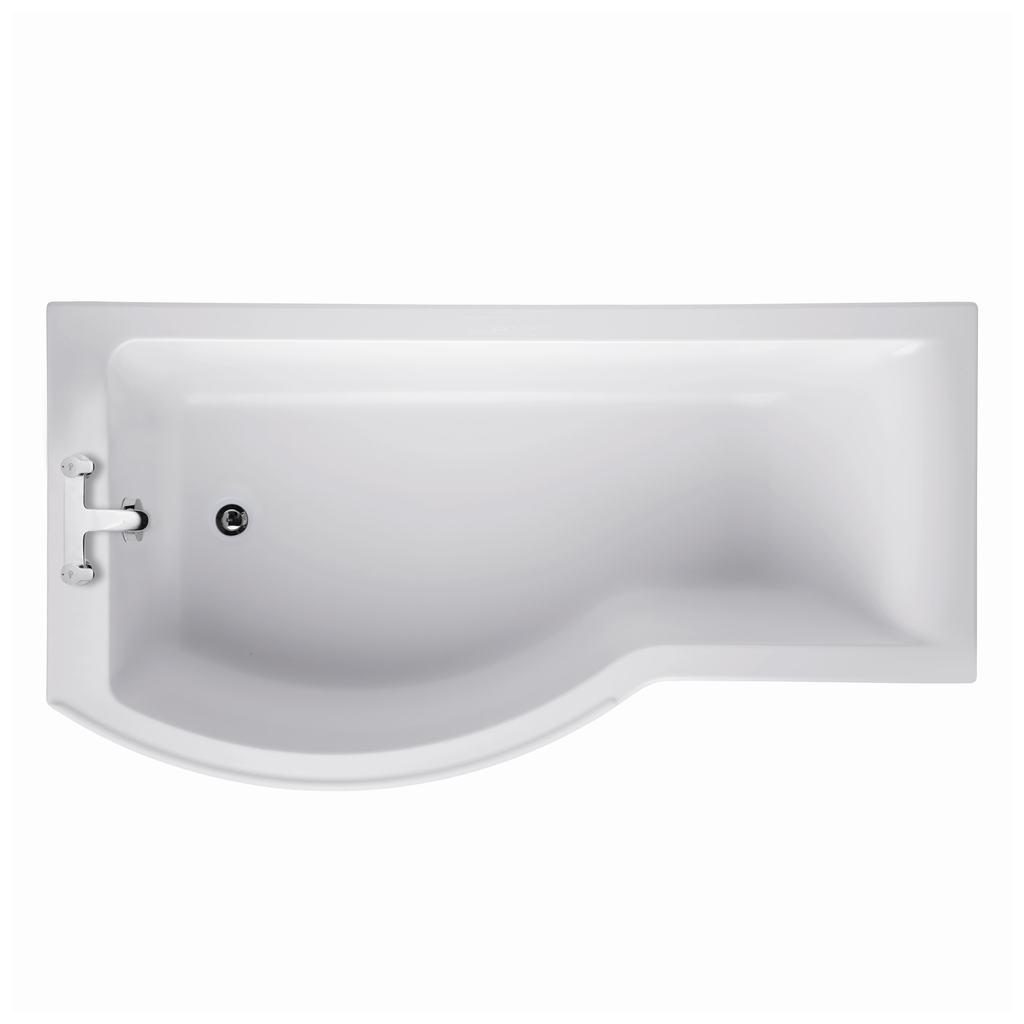 170x70cm Shower Bath, Left Hand