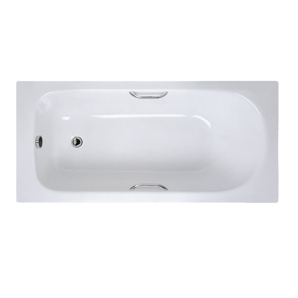 150x70cm Idealform Plus+ Rectangular Bath with Grips, no tapholes