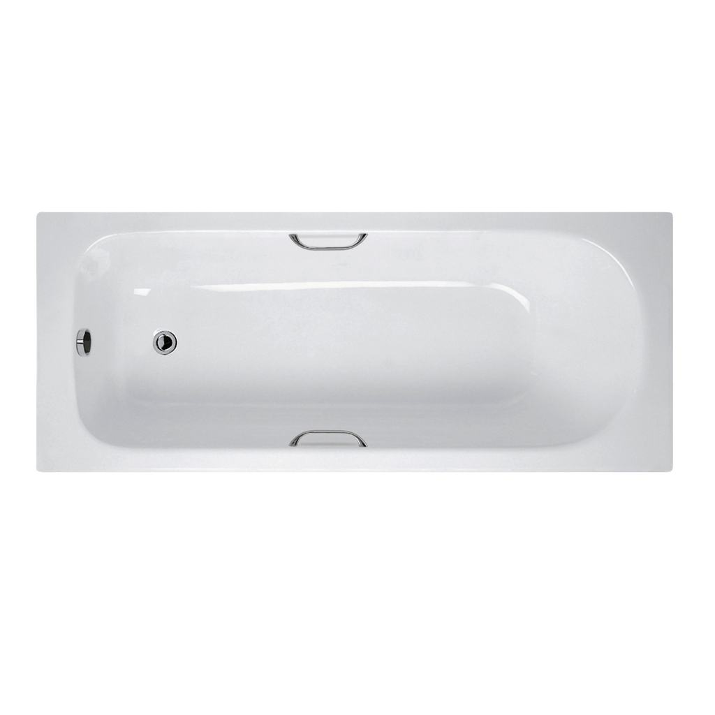 170x70cm Idealform Plus+ Rectangular Bath with Grips, no tapholes