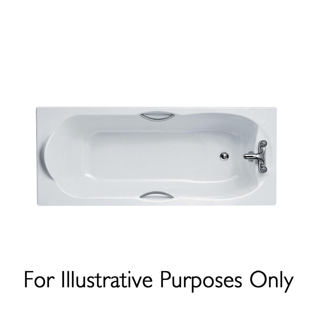 170x75cm Rectangular Bath, 2 tapholes