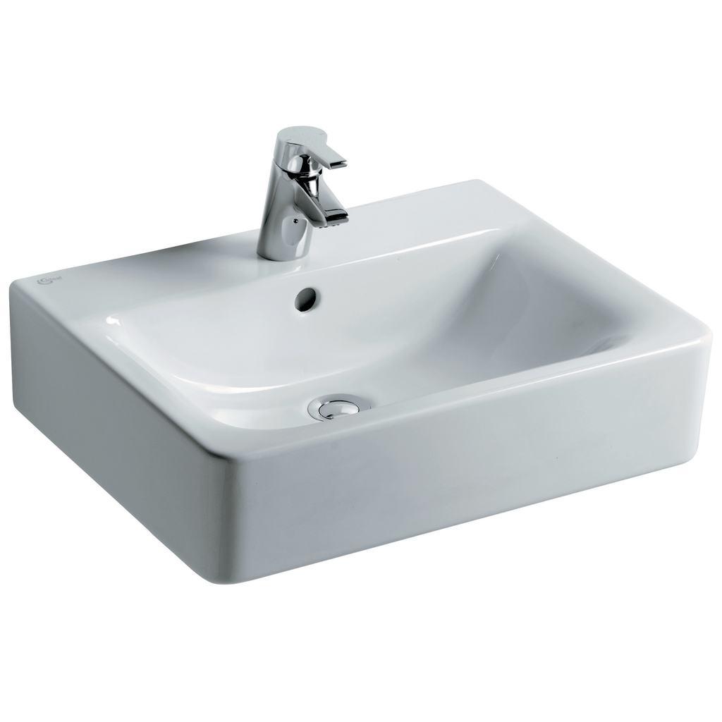 product details e7842 cube 55cm washbasin 1 taphole. Black Bedroom Furniture Sets. Home Design Ideas
