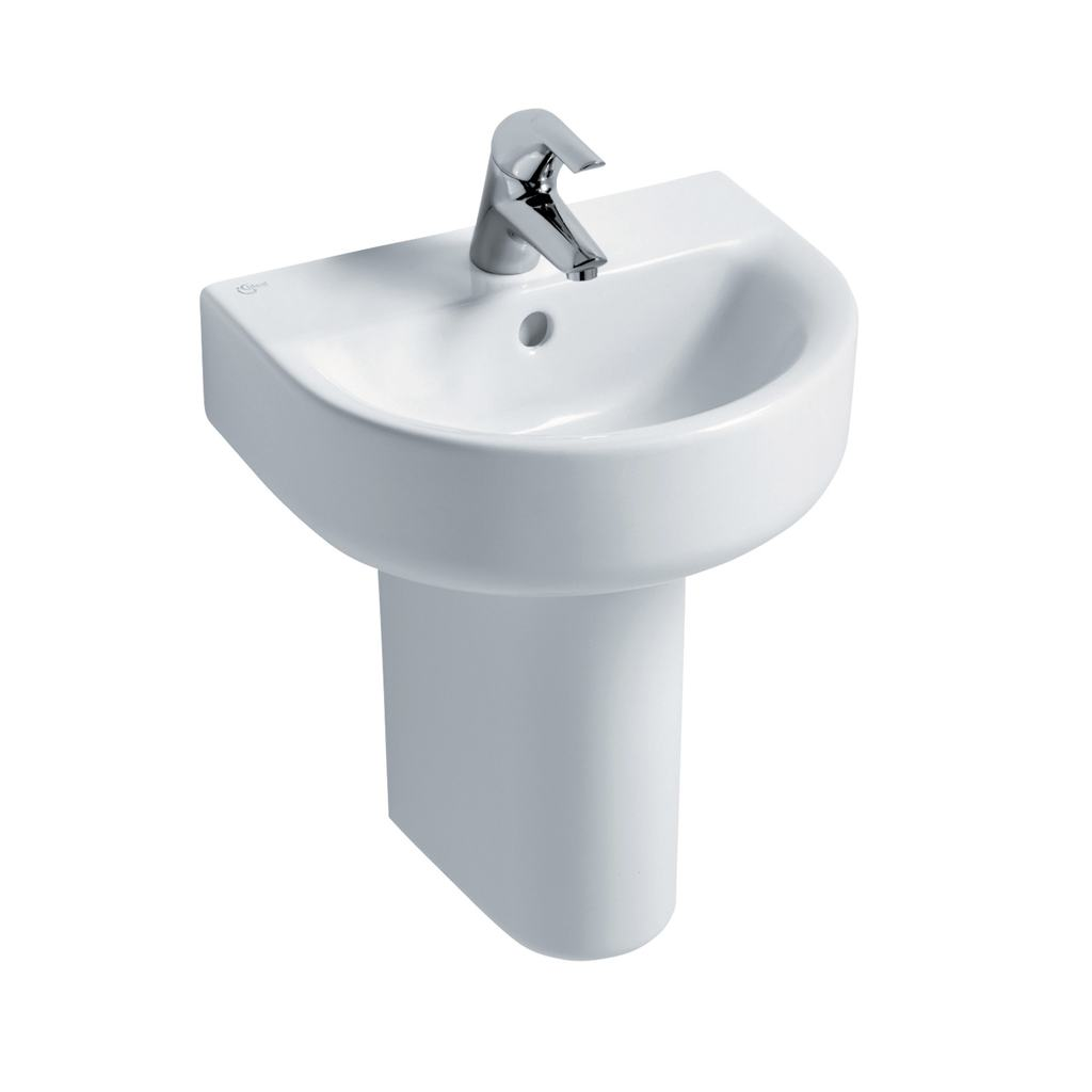 Arc 45cm Handrinse Washbasin, 1 taphole