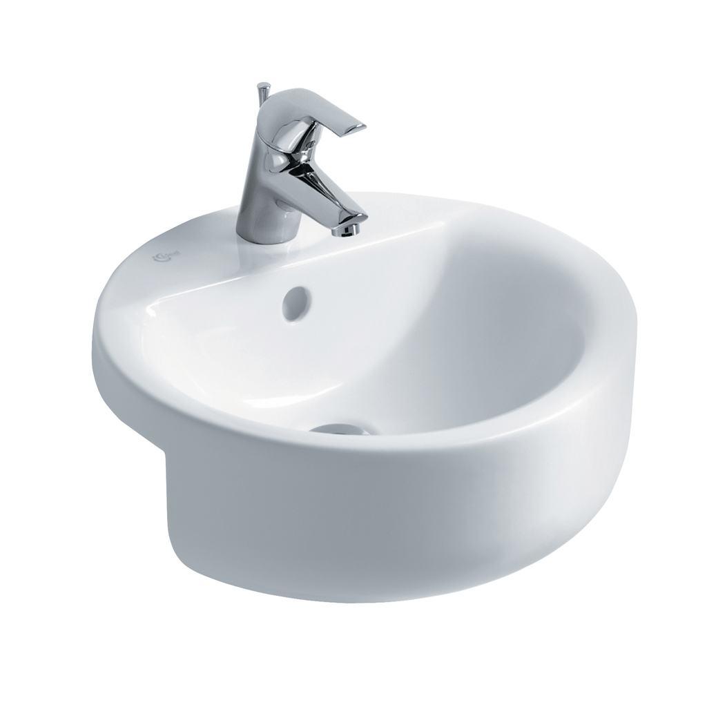 Sphere 45cm Semi-Countertop Washbasin, 1 taphole