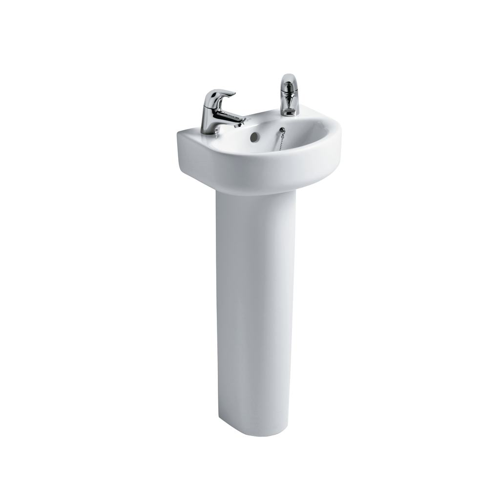 Arc 35cm Handrinse Washbasin, 1 tapholes right hand