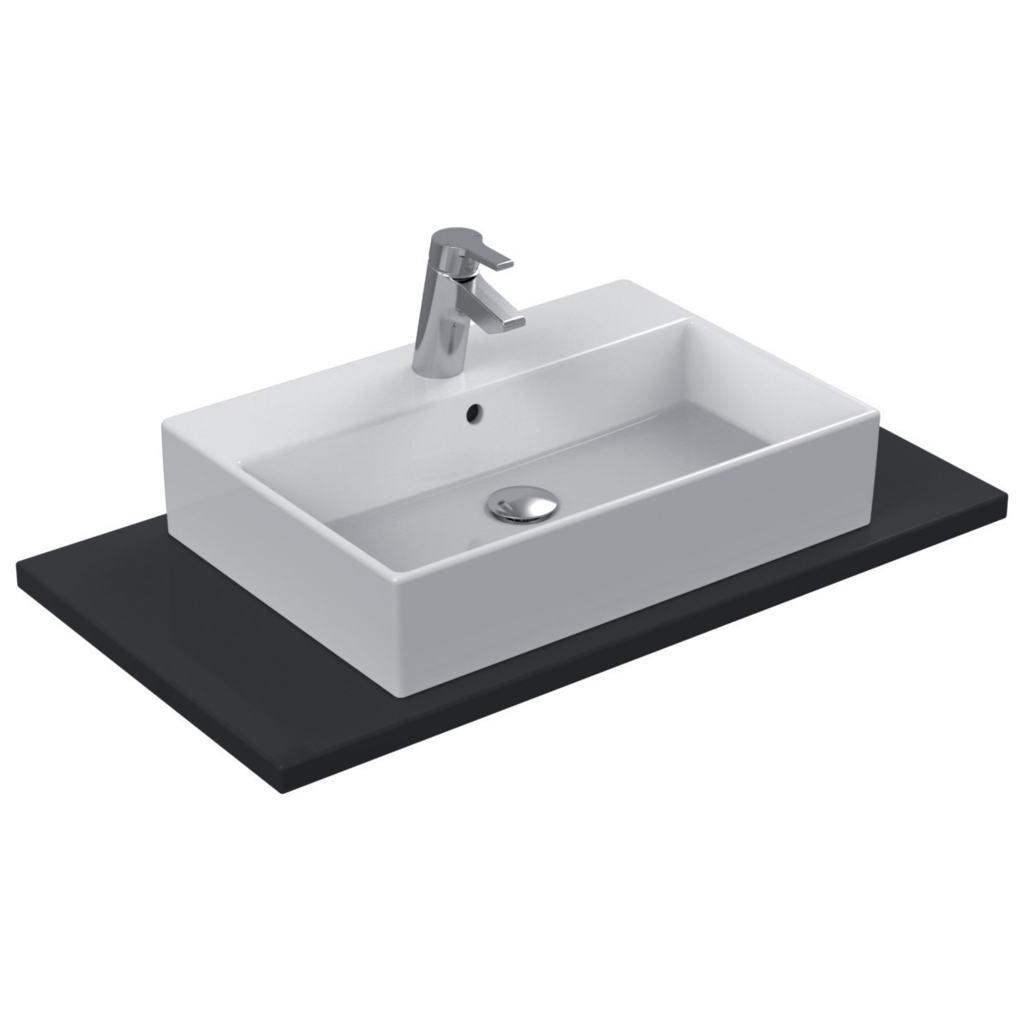 Dettagli del prodotto k0781 lavabo da appoggio 60x42 cm for Lavandino ideal standard conca