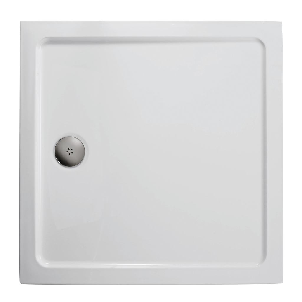 1000x1000mm Low Profile Shower Tray, Flat Top