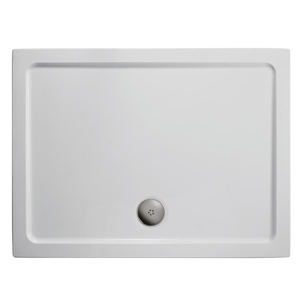 1200x900mm Low Profile Shower Tray, Upstands