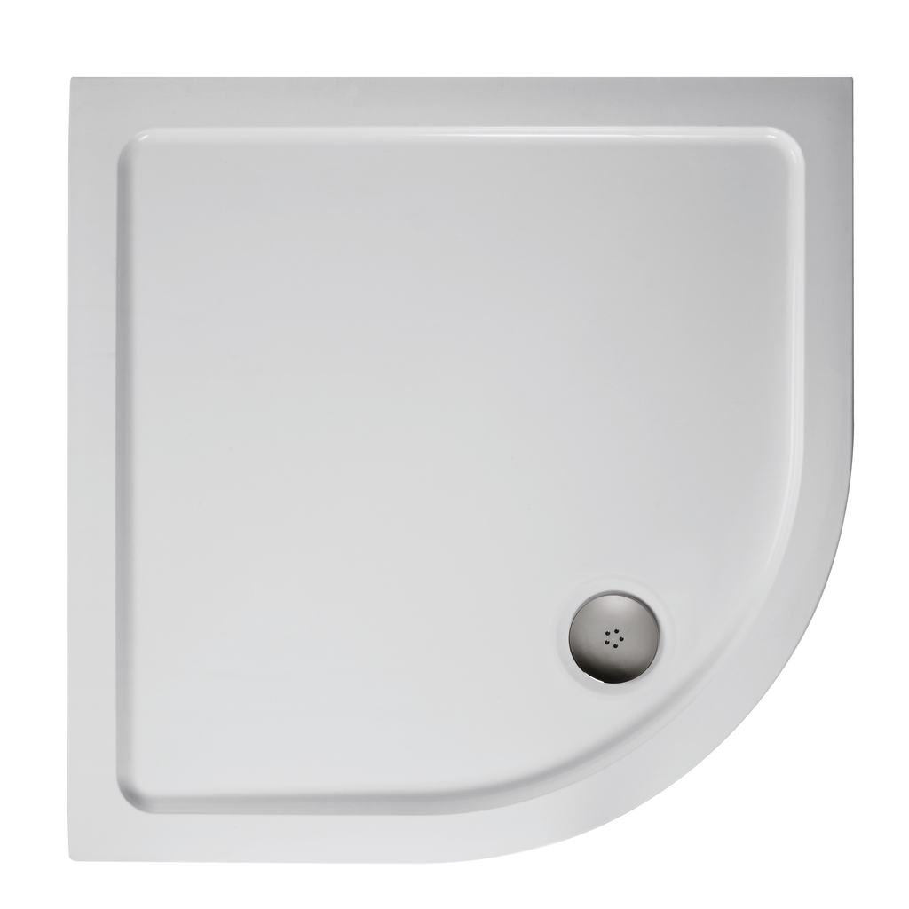 1000mm Quadrant Low Profile Shower Tray, Flat Top