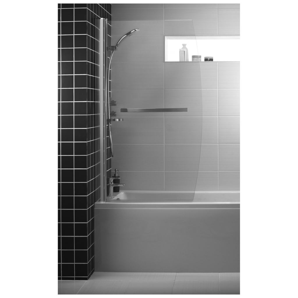 Bow Bath Screen With Towel Rail