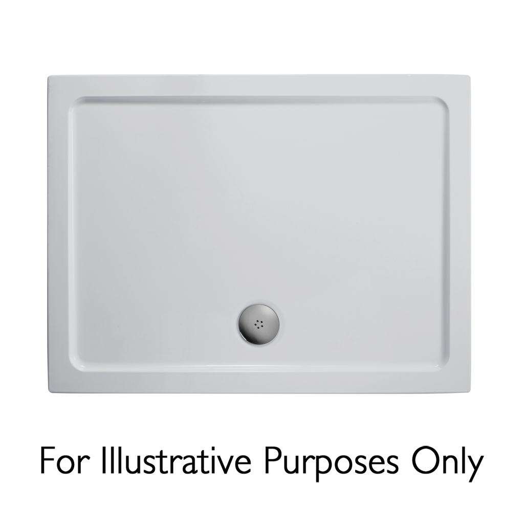 1400x900mm Low Profile Shower Tray, Flat Top
