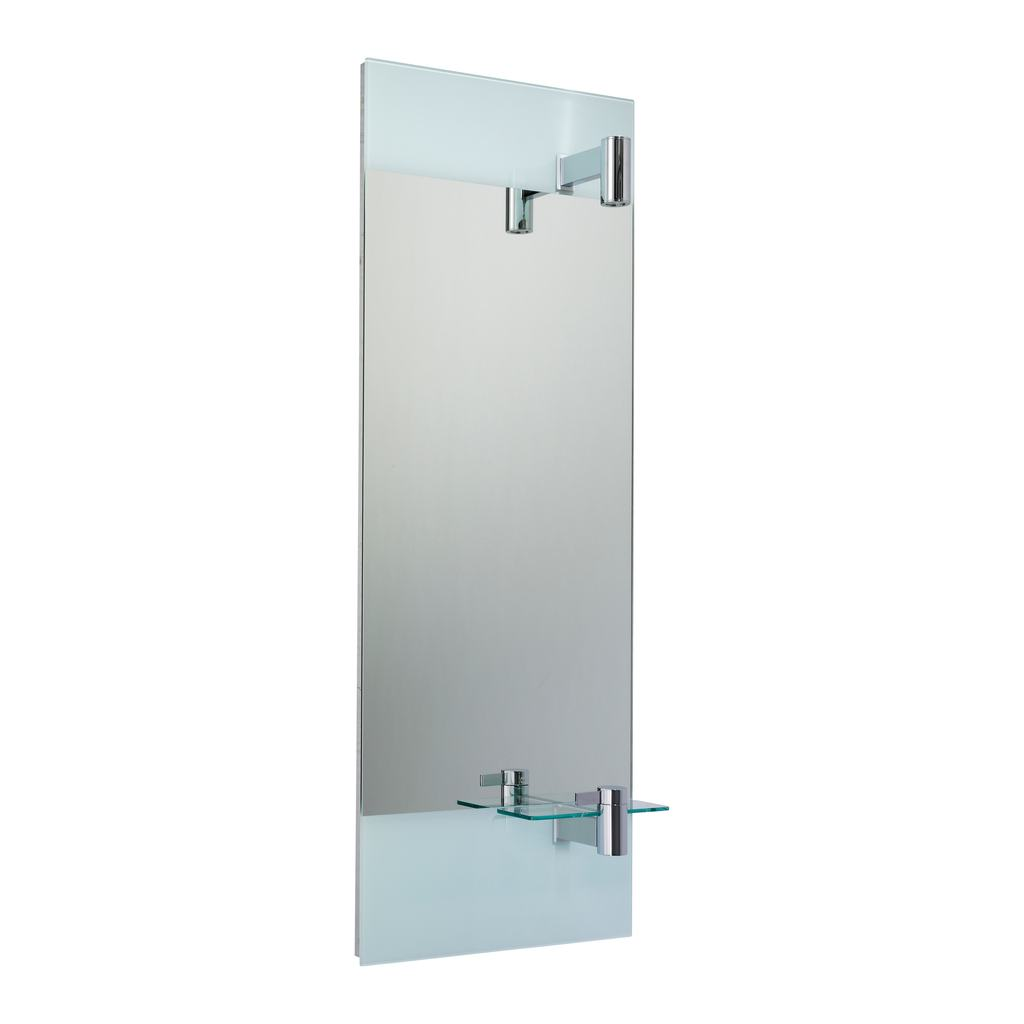 Mirror with Lamp and Integrated Basin Mixer - Right Hand