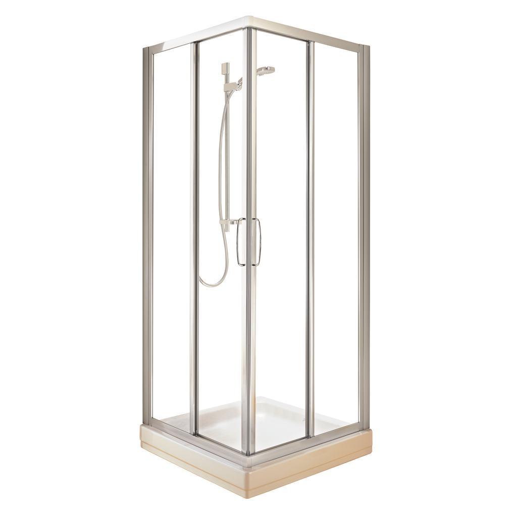 Cabine 70 x 70 cmverre transparent
