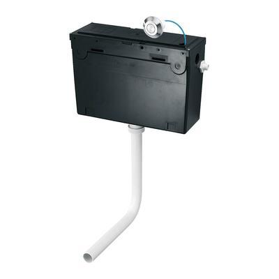 Universal Height, Side Inlet Cistern - Pneumatic Single Flush Valve  - no push button - 6 litre flush