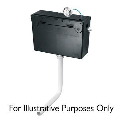 Universal Height, Bottom Inlet Cistern - Pneumatic Single Flush Valve - no push button  - 6 litre flush