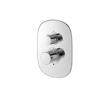 Easybox Slim built-in thermostatic shower mixer with diverter