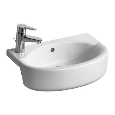 Arc 50cm Semi-Countertop Basin, Left hand