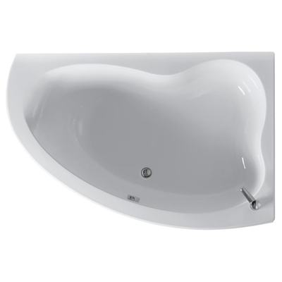 160x105cm Idealform Plus+ Offset Corner Bath, Right Hand