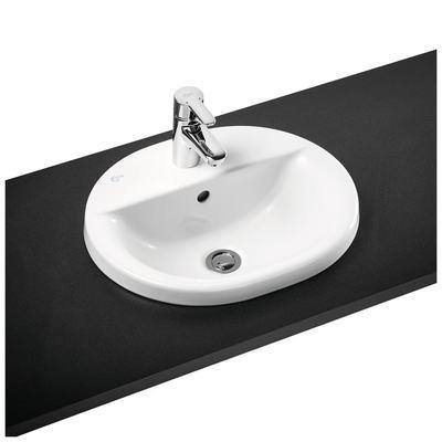 48cm Countertop basin, 2 tapholes