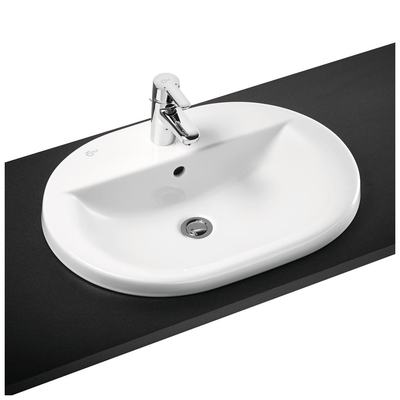 62cm Countertop Washbasin, 2 tapholes