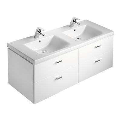 130cm Double Vanity Washbasin, 1 taphole
