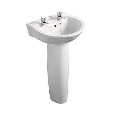 50cm Washbasin, 2 tapholes