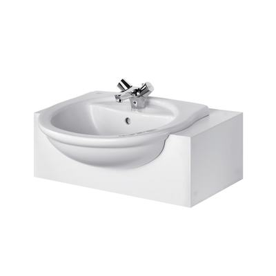 55cm Semi-Countertop Washbasin, 1 taphole