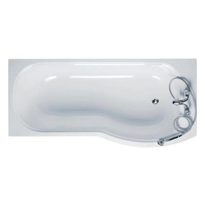 170 x 70cm Shower Bath 2 Tapholes